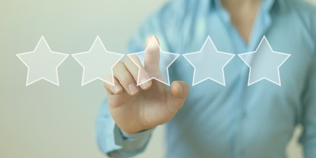 online reviews header