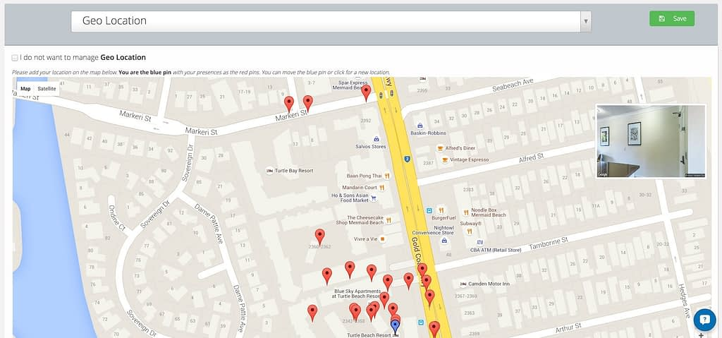 mypresences geolocation example - showing variations