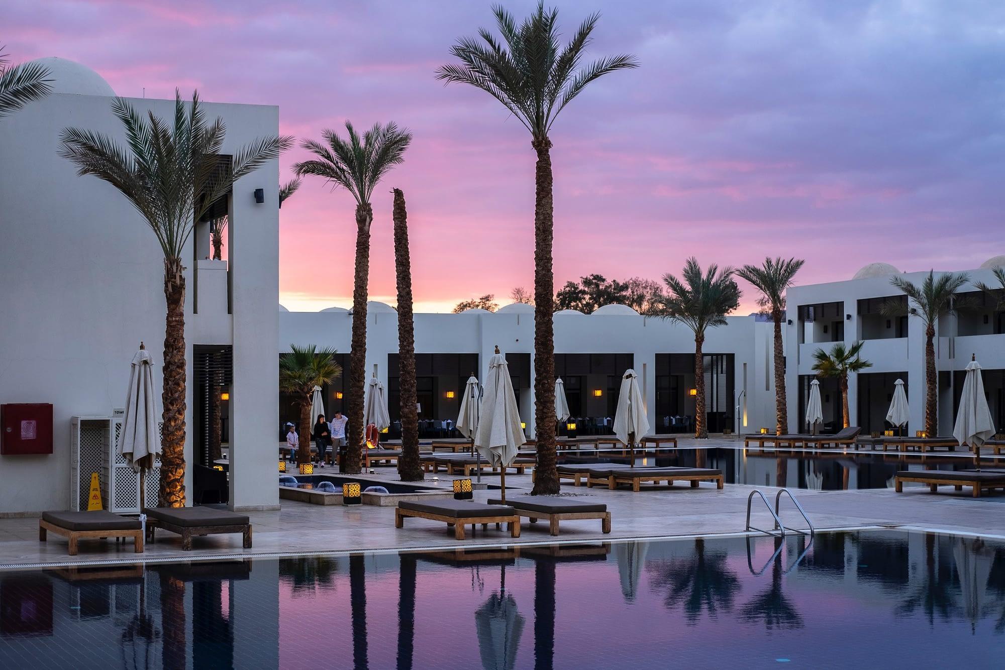 Resort by pool